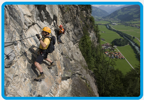 Klettersteig Zillertal : Klettersteig zillertal arena